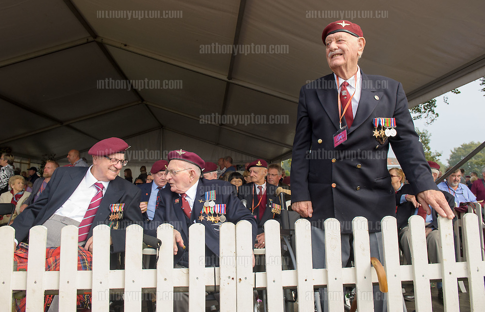 20140920       Copyright image 2014&copy;<br />  ,Daily Telegraph,  Daily Telegraph,<br /> James Duplock 11 Para, Ed Short 11 Para and Harry Dicken 10 Para<br /> <br /> Airborne Commemoration at Ginkle Heide, Ede, as part of the 70th Anniversary celebrations of the Battle of Arnhem, Operation Market Garden d 69yy0-  with 500 Paratroopers, with 60,000 visitors at <br /> For photographic enquiries please call Anthony Upton 07973 830 517 or email info@anthonyupton.com <br /> This image is copyright Anthony Upton 2014&copy;.<br /> This image has been supplied by Anthony Upton and must be credited Anthony Upton. The author is asserting his full Moral rights in relation to the publication of this image. All rights reserved. Rights for onward transmission of any image or file is not granted or implied. Changing or deleting Copyright information is illegal as specified in the Copyright, Design and Patents Act 1988. If you are in any way unsure of your right to publish this image please contact Anthony Upton on +44(0)7973 830 517 or email: