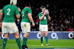 Jonathan Sexton of Ireland - Mandatory byline: Patrick Khachfe/JMP - 07966 386802 - 27/02/2016 - RUGBY UNION - Twickenham Stadium - London, England - England v Ireland - RBS Six Nations.