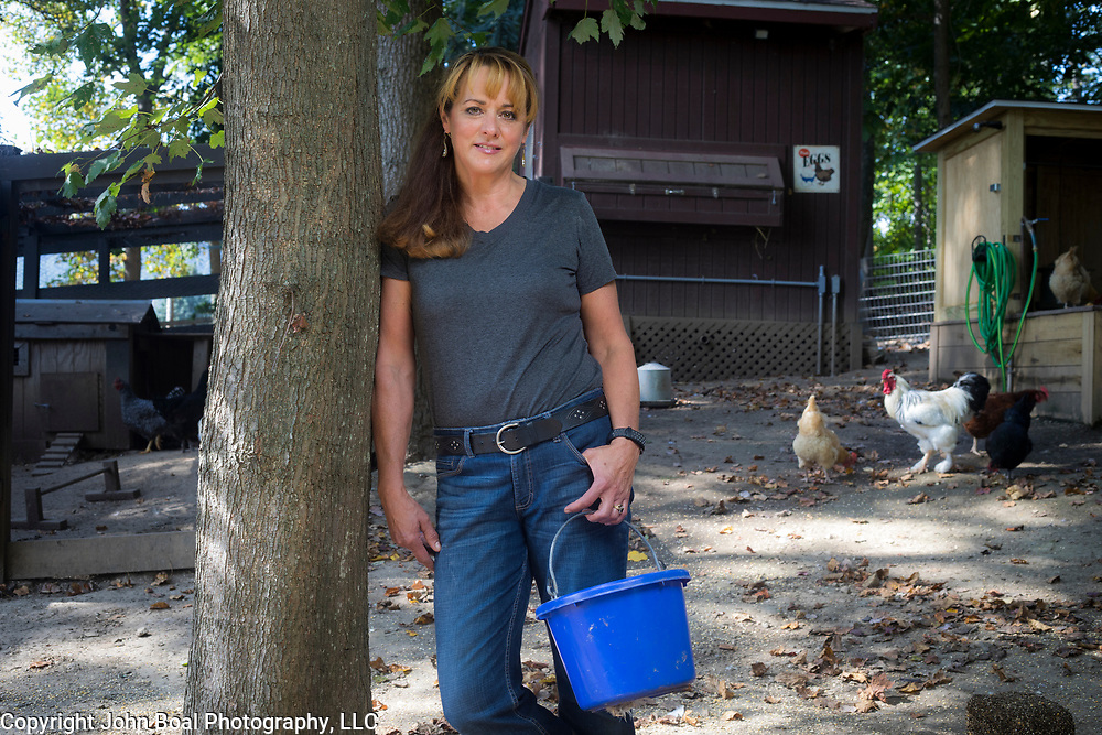 Sharon Strine near her chicken run, near Wolfsville, Maryland, on Tuesday, September 26, 2017. Strine is the plaintiff in a case contesting the redistricting of Maryland's Congressional Districts. Formerly of Maryland's 6th District, Wolfsville is now part of the 8th District. The 6th was redistricted in 2011, combining rural northern Maryland regions with more affluent communities like near Washington D.C. turning the district from Republican to Democrat. <br />  <br /> CREDIT: John Boal for The Wall Street Journal<br /> GERRYMANDER