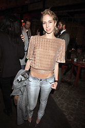 MARISSA SACKLER at the Prada Congo Art Party hosted by Miuccia Prada and Larry Gagosian at The Double Club, 7 Torrens Street, London EC1 on 10th February 2009.