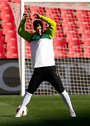 Elvedin Dzinic of Slovenia warm up during training session at Ellis Park on June 17, 2010 in Johannesburg, South Africa. Slovenia will play their next FIFA World Cup Group C match against USA at Ellis Park in on Friday June 18, 2010, in Johannesburg, South Africa. (Photo by Vid Ponikvar / Sportida)