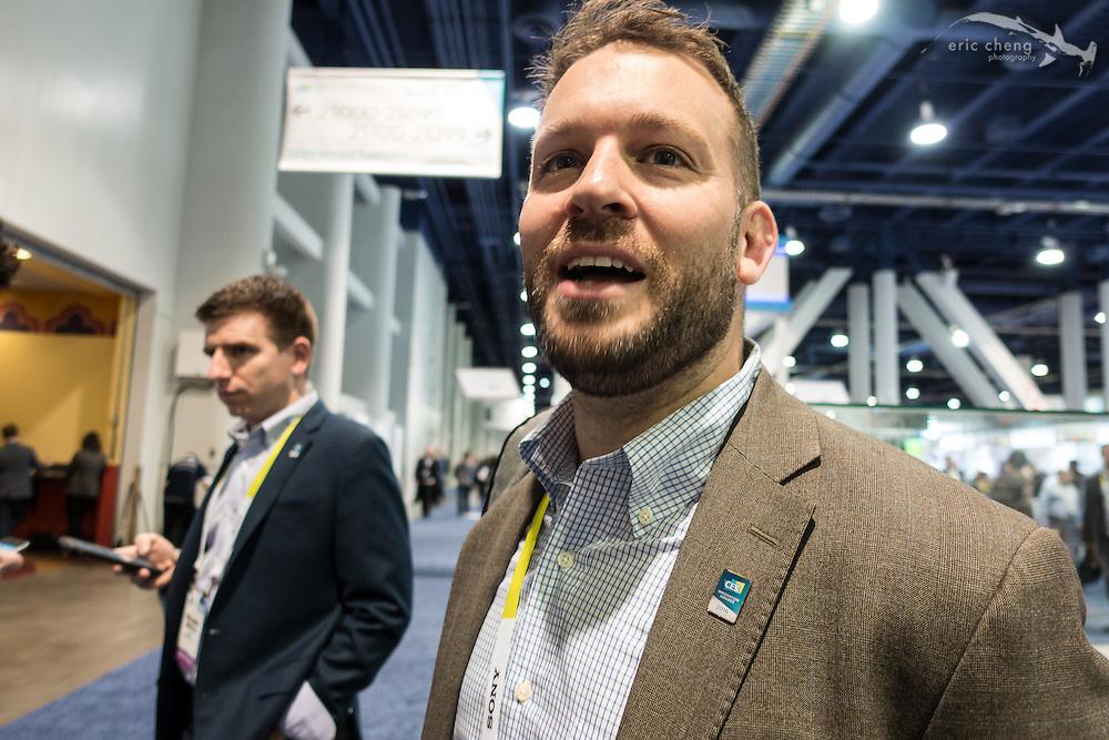 Greg McNeal of Airmap.io. CES 2016, Las Vegas.