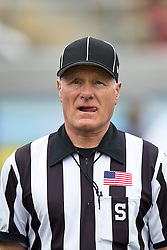 BERKELEY, CA - SEPTEMBER 12:  NCAA side judge Mike Weseloh stands on the field before the game between the California Golden Bears and the San Diego State Aztecs at California Memorial Stadium on September 12, 2015 in Berkeley, California. The California Golden Bears defeated the San Diego State Aztecs 35-7. (Photo by Jason O. Watson/Getty Images) *** Local Caption *** Mike Weseloh