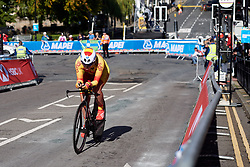 Irati Puigdefabregas Ariz (ESP) at UCI Road World Championships 2019 Junior Women's TT a 13.7 km individual time trial in Harrogate, United Kingdom on September 23, 2019. Photo by Sean Robinson/velofocus.com