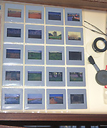 A293G5 Photographic transparency slides on light box