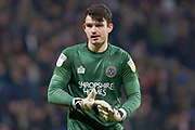 Shrewsbury Town goalkeeper Max O'Leary during the EFL Sky Bet League 1 match between Bolton Wanderers and Shrewsbury Town at the University of  Bolton Stadium, Bolton, England on 29 December 2019.