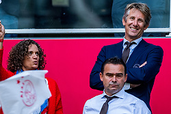 14-08-2018 NED: Champions League AFC Ajax - Standard de Liege, Amsterdam<br /> Third Qualifying Round,  3-0 victory Ajax during the UEFA Champions League match between Ajax v Standard Luik at the Johan Cruijff Arena / Annemarie van Kesteren, Edwin van der Sar, Marc Overmars