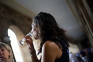 A local woman drinks beer at the Plaza Nueva square in the Northern Spanish Basque city of Bilbao, on August 25, 2011. Photo Rafa Rivas