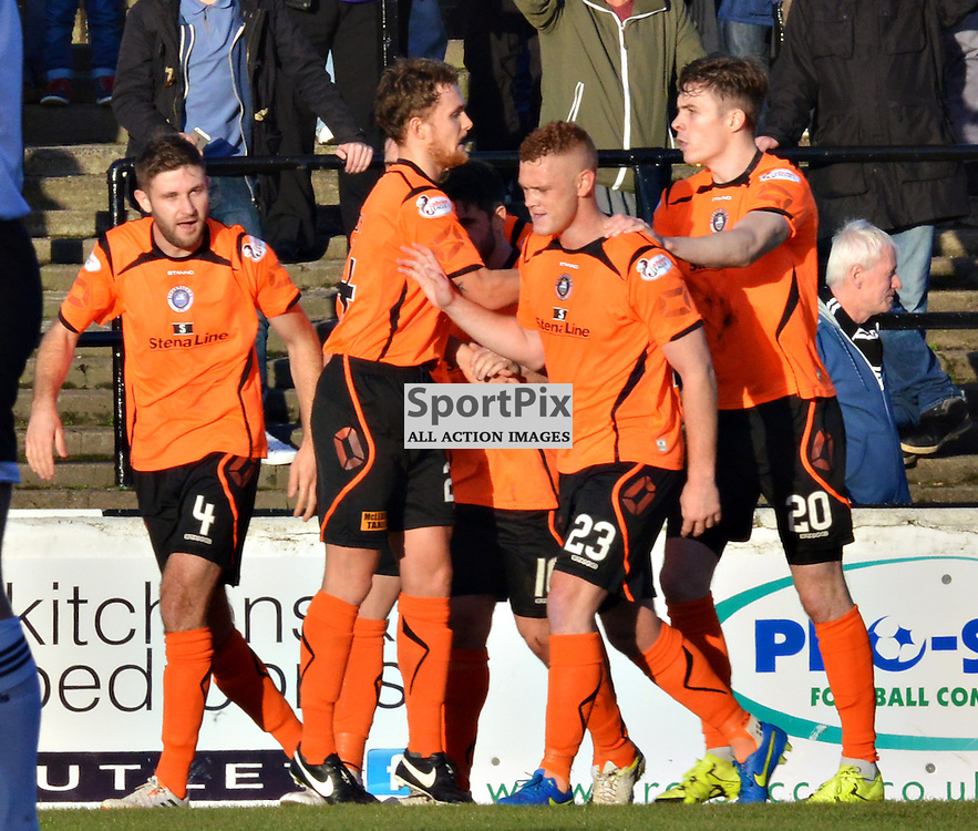 Stranraer players celebrate Scott Robertson's goal against Ayr......(c) BILLY WHITE | SportPix.org.uk