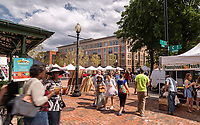 Exterior photo of retail and market at Residences at Eastern market in Washington DC by Jeffrey Sauers of Commercial Photographics