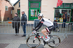 Ellen van Dijk (NED) of Team Sunweb rides to the start of Stage 1b of the Healthy Ageing Tour - a 77.6 km road race, starting and finishing in Grijpskerk on April 5, 2017, in Groeningen, Netherlands.