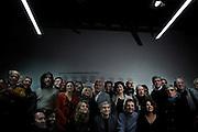 Al centro Nichi Vendola durante la foto di gruppo con i candidati delle liste di Sinistra Ecologia e Libertà per Camera e Senato di Roma e del Lazio. Roma, 21 gennaio 2013. Christian Mantuano /  Oneshot
