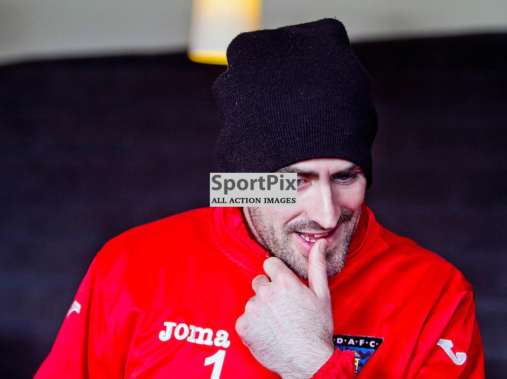 DAFC Presser Pitreavie 14 February 2013..Paul Gallacher talks to the press...(c) Craig Brown   StockPix.eu