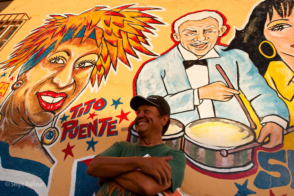 The artist that created a series of colorful murals of prominent Latin American celebrities, martirs, politicians and liberators in Little Havana in Miami, Florida.