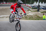#71 (LAKSESVELA Marita) NOR at Round 6 of the 2018 UCI BMX Superscross World Cup in Zolder, Belgium
