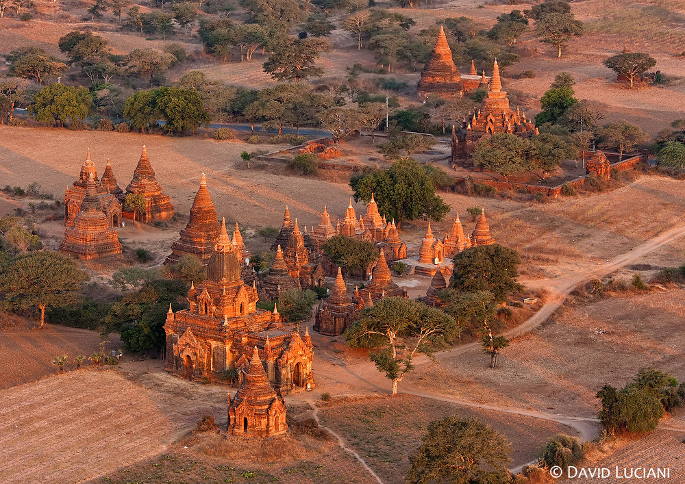 Bagan temples under the morning sunlight.