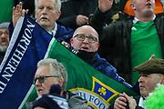Northern Ireland fan ahead of the UEFA European 2020 Qualifier match between Northern Ireland and Netherlands at National Football Stadium, Windsor Park, Northern Ireland on 16 November 2019.
