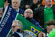 Northern Ireland fan ahead of the UEFA European 2020 Qualifier match between Northern Ireland and Netherlands at National Football Stadium, Windsor Park, Northern Ireland on 16 November 2019.