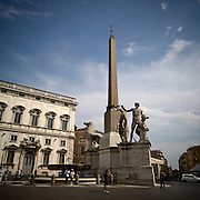 Obelisco sulla piazza del Quirinale<br /> The obelisk on the Quirinale square