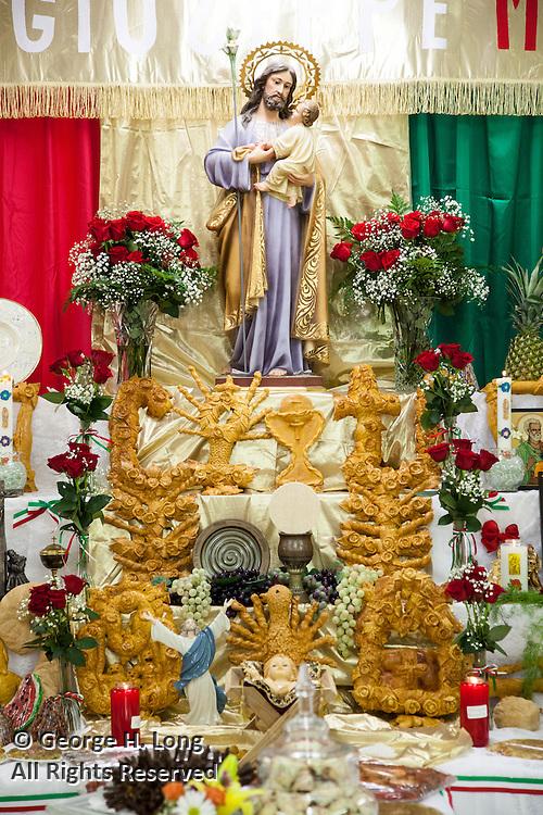 St. Joseph's Altar at St. Jane De Chantal Church in Abita Springs, Louisiana; March 19, 2016