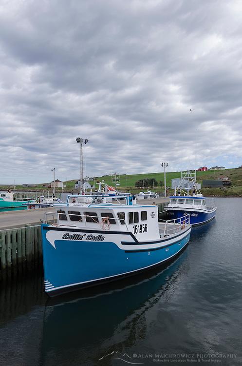 Fishing boats in Grand Étang Harbour, Cape Breton Island Nova Scotia