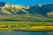 Sofa Mountain overlooking Lower Waterton Lake, Waterton Lakes  National Park, Alberta, Canada