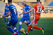 Peterborough Utd forward Marcus Maddison (21) driving through the Shrewsbury defence during the EFL Sky Bet League 1 match between Peterborough United and Shrewsbury Town at London Road, Peterborough, England on 23 February 2019.