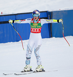 06.12.2015, East Summit Course, Lake Luise, CAN, FIS Weltcup Ski Alpin, Lake Luise, Damen, SuperG, im Bild Lindsey Vonn (USA, 1. Platz) // winner Lindsey Vonn of the USA reacts during the race of ladies Super G of the Lake Luise FIS Ski Alpine World Cup at the East Summit Course in Lake Luise, Canada on 2015/12/06. EXPA Pictures © 2015, PhotoCredit: EXPA/ SM<br /> <br /> *****ATTENTION - OUT of GER*****
