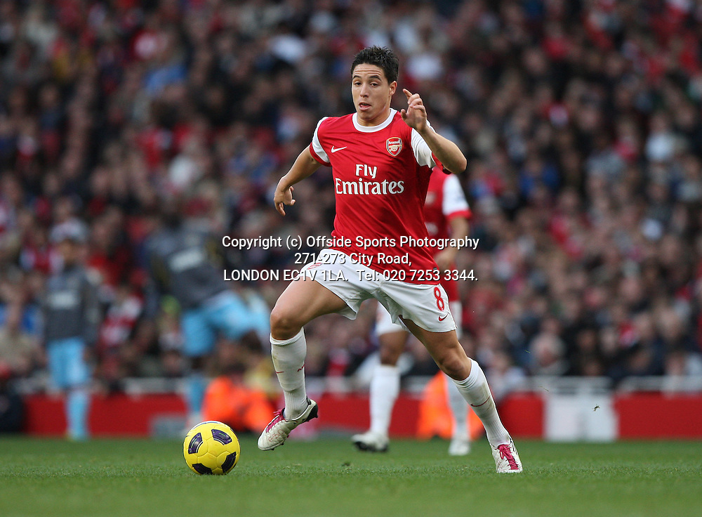 30/10/2010 Premier League football. Arsenal v West Ham United.<br /> Samir Nasri.<br /> Photo: Mark Leech.