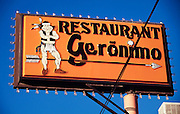 Restaurant Geronimo, named after the famous Apache Chief.