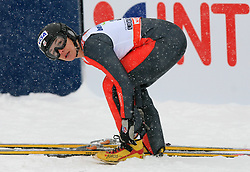 World champion Lindsey Van of USA at Ski Jumping ladies Normal Hill Individual of FIS Nordic World Ski Championships Liberec 2008, on February 20, 2009, in Jested, Liberec, Czech Republic. (Photo by Vid Ponikvar / Sportida)