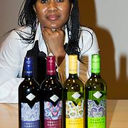 NLD/Amsterdam//20140319 - Presentatie House of Mandela wijnen, kleindochter Tukwini Mandela