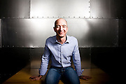 Portrait of Jeff Bezos, CEO of Amazon.com.  Photographed at Amazon.com offices in Seattle, WA.