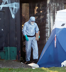 FILE PICTURE © Licensed to London News Pictures. 28/12/2017. London, UK. A Police forensics officer removes evidence from an outbuilding, at the scene in Finsbury Park where the body of a young woman was found on Boxing Day. A member of the public found the body of the woman, thought to be in her 20s, near the sports area in the centre of the park. Photo credit: Ben Cawthra/LNP