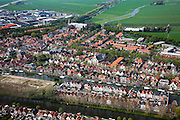 Nederland, Noord-Holland, Waterland, 28-04-2010; Edam, historische stadskern, bedrijventerrein in Polder de Zeevang.Edam, historical center, business park in the Polder Zeevang.luchtfoto (toeslag), aerial photo (additional fee required).foto/photo Siebe Swart