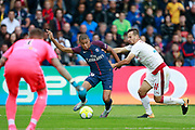 Paris Saint Germain's French forward Kylian Mbappe runs with the ball during the French Championship Ligue 1 football match between Paris Saint-Germain and Girondins de Bordeaux on September 30, 2017 at the Parc des Princes stadium in Paris, France - Photo Benjamin Cremel / ProSportsImages / DPPI