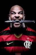 RIO DE JANEIRO, RJ, BRASIL - 27/05/2009:  Adriano, o Imperador, jogador de futebol, atleta Nike que atualmente defende o Flamengo.  foto de CAIO GUATELLI
