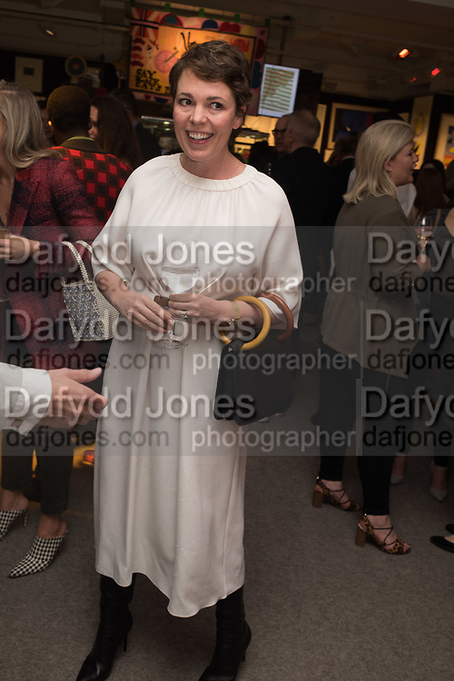 OLIVIA COLEMAN, Preview evening  in support of The Eve Appeal, a charity dedicated to protecting women from gynaecological cancers. Bonhams Knightsbridge, Montpelier St. London. 29 April 2019