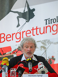 02.04.2019, Innsbruck, AUT, Alpinunfälle beim Wintersport, Pressekonferenz, Landespolizeidirektion Tirol, Österreichisches Kuratorium für Alpine Sicherheit, Bergrettung Tirol, im Bild Hermann Spiegl (Landesleiter Bergrettung Tirol) // during a press conference of the Provincial Police Tirol, Austrian Board of Trustees for Alpine Safety, Mountain Rescue Tirol on the report - winter 2018/19 - Alpine accidents in winter sports in Innsbruck, Austria on 2019/04/02. EXPA Pictures © 2019, PhotoCredit: EXPA/ Johann Groder