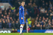 Chelsea defender Andreas Christensen (4) during the Premier League match between Chelsea and Arsenal at Stamford Bridge, London, England on 21 January 2020.