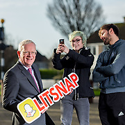09.01.2017           <br /> LIT Snap Chat<br /> LIT President, Professor Vincent Cunnane pictured with LIT students, Amy McLaughlin and Martin Daly. Picture: Alan Place