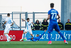 Stefan Ristovski #6 of HNK Rijeka and Sammir #20 of GNK Dinamo Zagreb during football match between HNK Rijeka and GNK Dinamo Zagreb in Round #27 of 1st HNL League 2016/17, on November 5, 2016 in Rujevica stadium, Rijeka, Croatia. Photo by Grega Valancic / Sportida