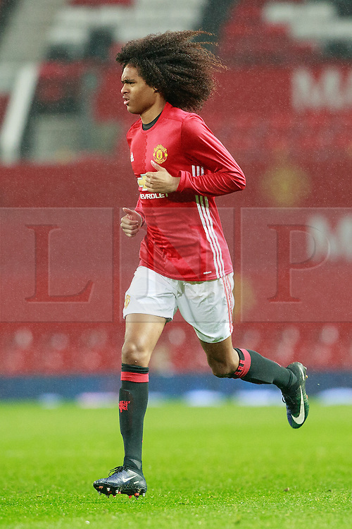 © Licensed to London News Pictures . 12/12/2016 . Manchester , UK . Substitute TAHITH CHONG . Manchester United vs Southampton FA Youth Cup Third Round match at Old Trafford . Photo credit : Joel Goodman/LNP