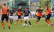 Dundee's Simon Ferry is surrounded by Dundee United players - Dundee v Dundee United, SPFL Premiership at Dens Park<br /> <br />  - &copy; David Young - www.davidyoungphoto.co.uk - email: davidyoungphoto@gmail.com