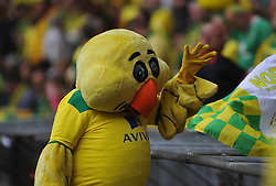 Norwich Mascot Canary, Middlesbrough v Norwich, Sky Bet Championship, Play Off Final, Wembley Stadium, Monday  25th May 2015