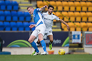 Dundee&rsquo;s Faissal El Bakhtaoui and St Johnstone&rsquo;s Brian Easton - St Johnstone v Dundee, Ladbrokes Scottish Premiership at McDiarmid Park, Perth. Photo: David Young<br /> <br />  - &copy; David Young - www.davidyoungphoto.co.uk - email: davidyoungphoto@gmail.com