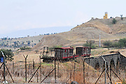 Israel, Jordan Valley, The original site of Kibbutz Gesher (bridge) named for the bridge over the Jordan river that connected the rail network in Palestine to the main Turkish Track