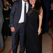 Westminster, UK. 20th Apr, 2017. Akash Islam & Maria christina - coochinando.com attends The annually National UK Blog Awards at Park Plaza Westminster Bridge, London. by See Li