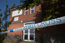 © Licensed to London News Pictures. 04/07/2018. Amesbury, UK. Amesbury Baptist Church where it is thought Dawn Sturgess, 44, and her partner Charlie Rowley, 45, may have visited before they were taken ill on Saturday 30th June 2018. Police have confirmed that the couple have been in contact with Novichok nerve agent. Former Russian spy Sergei Skripal and his daughter Yulia were poisoned with Novichok nerve agent in nearby Salisbury in March 2018. Photo credit: Peter Macdiarmid/LNP