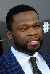 """Curtis Jackson (aka 50 Cent) at the premiere of """"Gotti"""" in New York City."""
